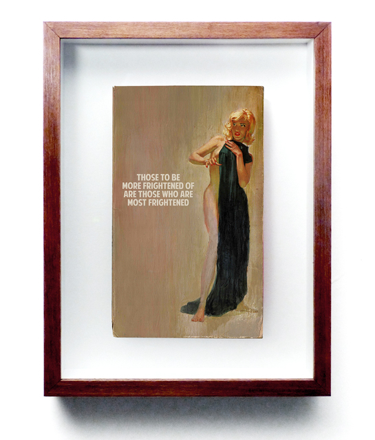 , 'Those To Be More Frightened Of (Vintage Book),' 2018, Hang-Up Gallery