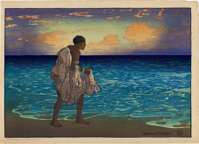 , 'Hawaiian Fisherman,' ca. 1919, Egenolf Gallery Japanese Prints & Drawing