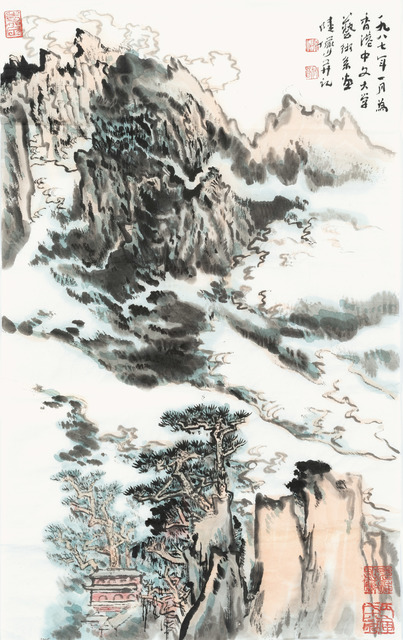 , 'Mountains and Clouds,' 1987, Art Museum of the Chinese University of Hong Kong