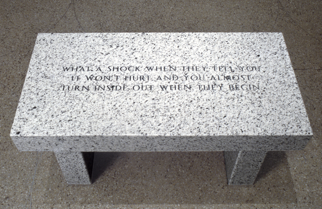 Jenny Holzer, 'What a shock when they tell you it won't hurt...', 1989, Sprüth Magers