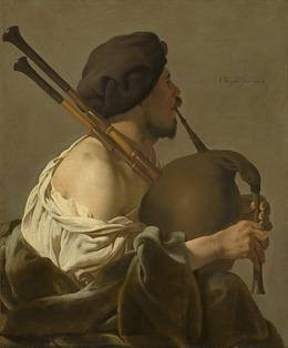 Hendrick ter Brugghen, 'Bagpipe Player', 1624, National Gallery of Art, Washington, D.C.
