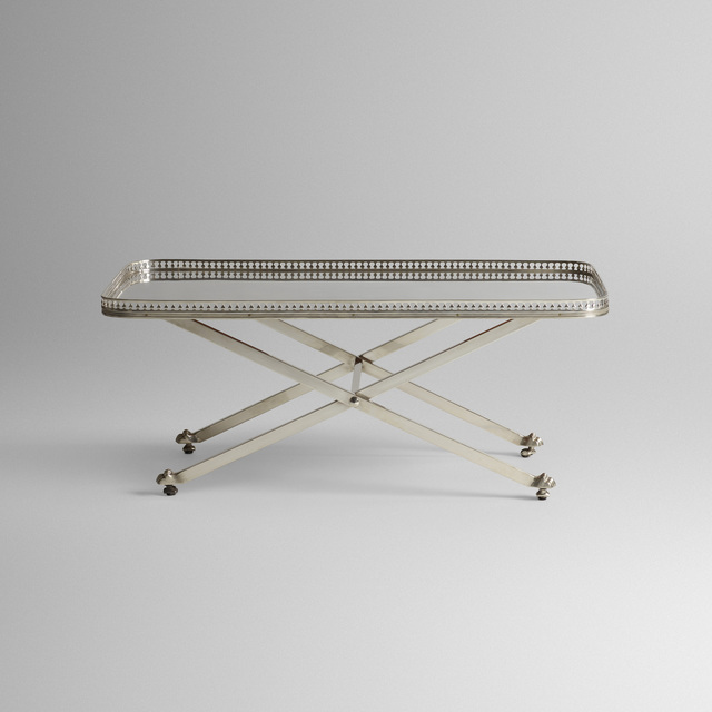 Maria Pergay, 'coffee table', c. 1957, Design/Decorative Art, Silver-plated steel, Rago/Wright