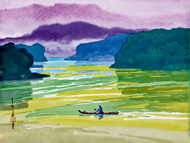 Ma Paisui 馬白水, 'Shanhu Pond', 1996, Painting, Color ink on paper, Asia Art Center