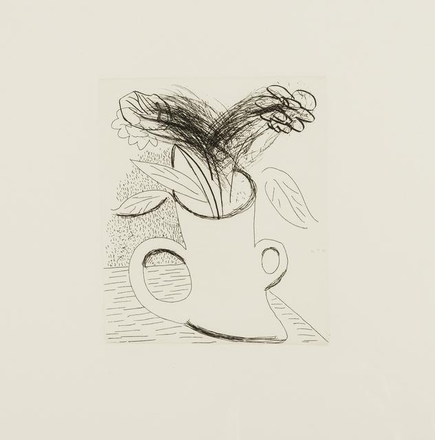 David Hockney, 'Untitled (Flowers in double-handled vase)', ca. 1982, Artsnap