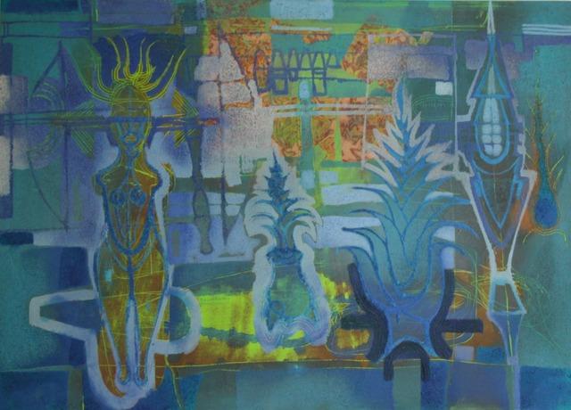 Guillermo Pacheco, 'Oleo y pigmento/tela ', 2019, Galería Quetzalli