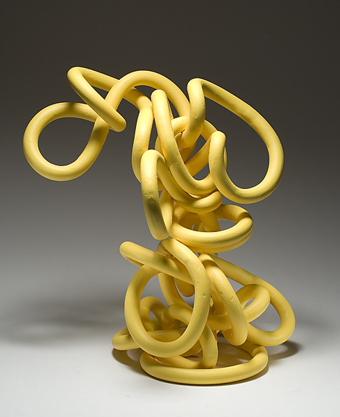 ", 'Anne Hirondelle ""Re:Coil"" Yellow,' ca. 2007, Jeffrey Spahn Gallery"