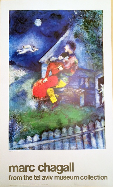 Marc Chagall, 'The Lover's, Marc Chagall, from the Tel Aviv Musuen Collection', 1984, David Lawrence Gallery