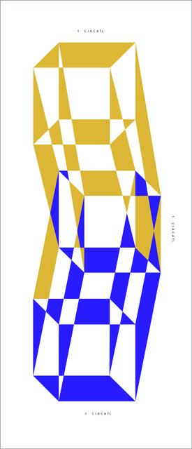 , 'Specific Nahua Exercise # 1 (Ó Proyección de tres cubos a partir de un cuadrado que mide 1 ciacatl personalizado),' 2015, Nomínimo