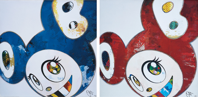 Takashi Murakami, 'And Then x 6 (Blue: The Polke Method); and And Then x 6 (Red Dots: The Superflat Method)', 2012-13, Phillips