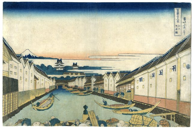 Katsushika Hokusai, 'Thirty-Six Views of Mt. Fuji, Nihombashi Bridge in Edo', ca. 1830 -1834, Shukado Gallery