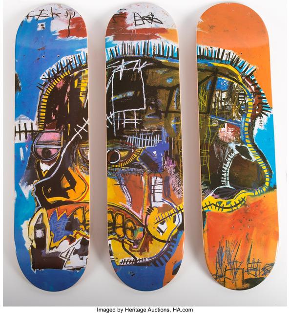 Jean-Michel Basquiat, 'Skull triptych', 2014, Heritage Auctions