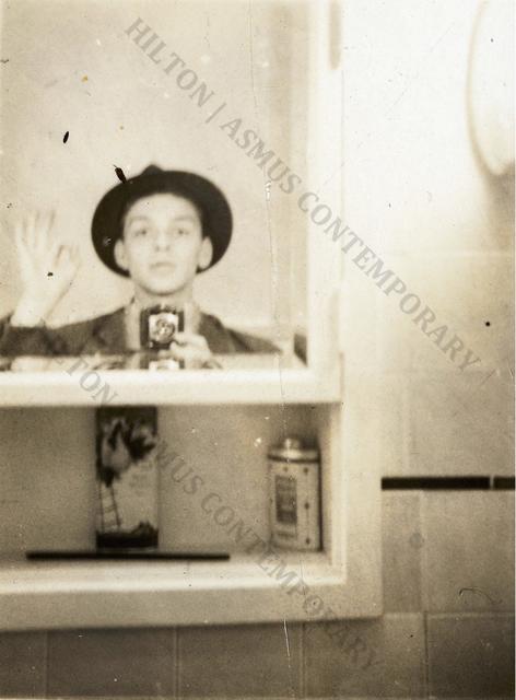 ", 'Frank Sinatra - ""Selfie"" in the Medicine Cabinet ,' Late 1930s, Hilton Asmus"