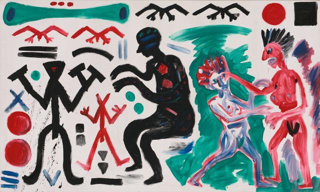 "A.R. Penck, 'Vorwärts zum 38. Parteitag (Onward to the 38th Party Congress)""', 1983, Michael Werner Gallery"