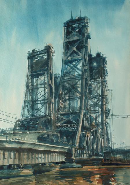 , 'Lift Bridge, Jersey Marshes,' 1936, Questroyal Fine Art