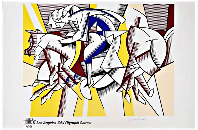 Roy Lichtenstein, 'The Red Horsemen, (aka The Equestrians) for Los Angeles 1984 Olympic Games', 1982, Alpha 137 Gallery