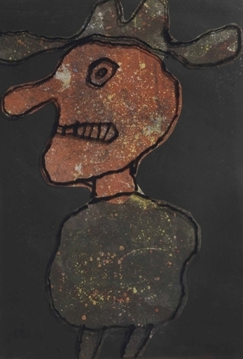 Jean Dubuffet, 'Maquette for Personnage au chapeau', Christie's