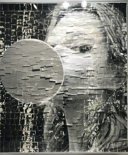 Ardan Özmenoğlu, 'Beauty Balloon Silver ', 2021, Painting, Mixed Media artwork done by using post-it notes, silk screen, and painting, FREMIN GALLERY