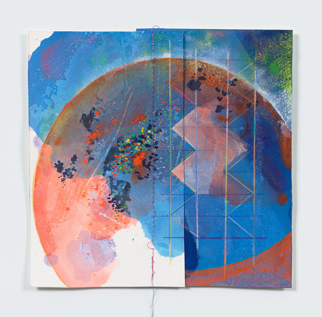 Anne Sherwood Pundyk, 'Sleep Architecture', 2017, Drawing, Collage or other Work on Paper, Acrylic, Latex, Gouache, Watercolor, Colored Pencil and Stitching on Paper, Adah Rose Gallery