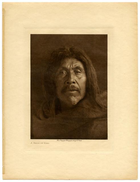 Edward Sheriff Curtis, 'A Haida of Kung', 1915, Etherton Gallery