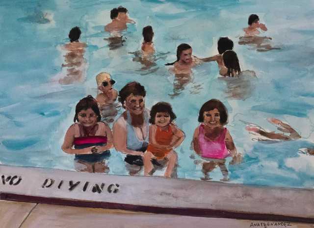 , 'Collier Pool ,' 2018, Cinnabar
