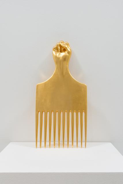, 'Study for Afrocomb,' 2016, moniquemeloche