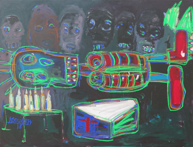 Aboudia, 'The Ceremony', 2018, Galerie Cécile Fakhoury - Abidjan