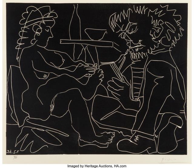 Pablo Picasso, 'Le Peintre et Son Modele (The Painter and the Model)', 1965, Heritage Auctions