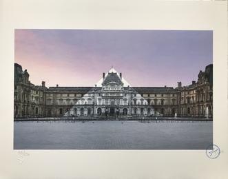 Anamorphose de la pyramide du Louvre, 12 juin 2016, 5h55