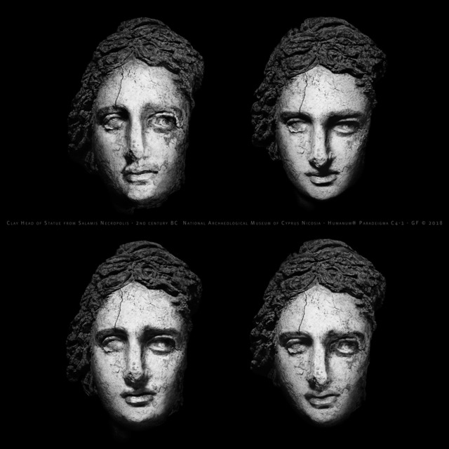 Giorgia Fiorio, 'Clay Head of Statue Ca. 870, Paradeigma C4-1, Original  Edition scale 1:1 ', 2015-2016, Photography, Carbon Print on 100% Cotton Fiber, Galleria del Cembalo