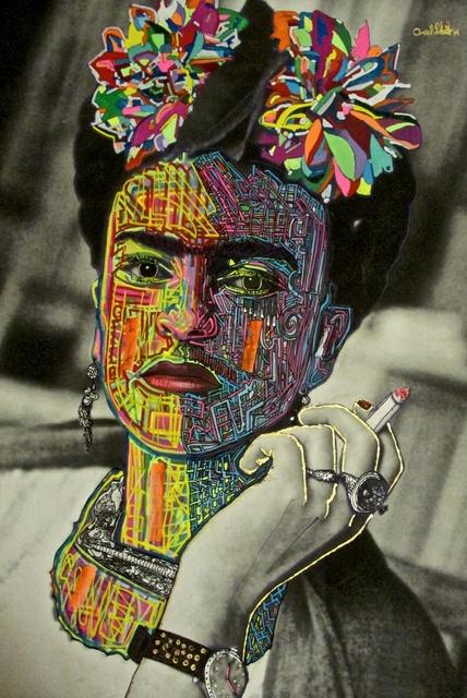 Ariel Shallit, 'Frida Kahlo', 2014, Mixed Media, Hand-painted archival digital print on canvas, Dru Arstark Fine Art