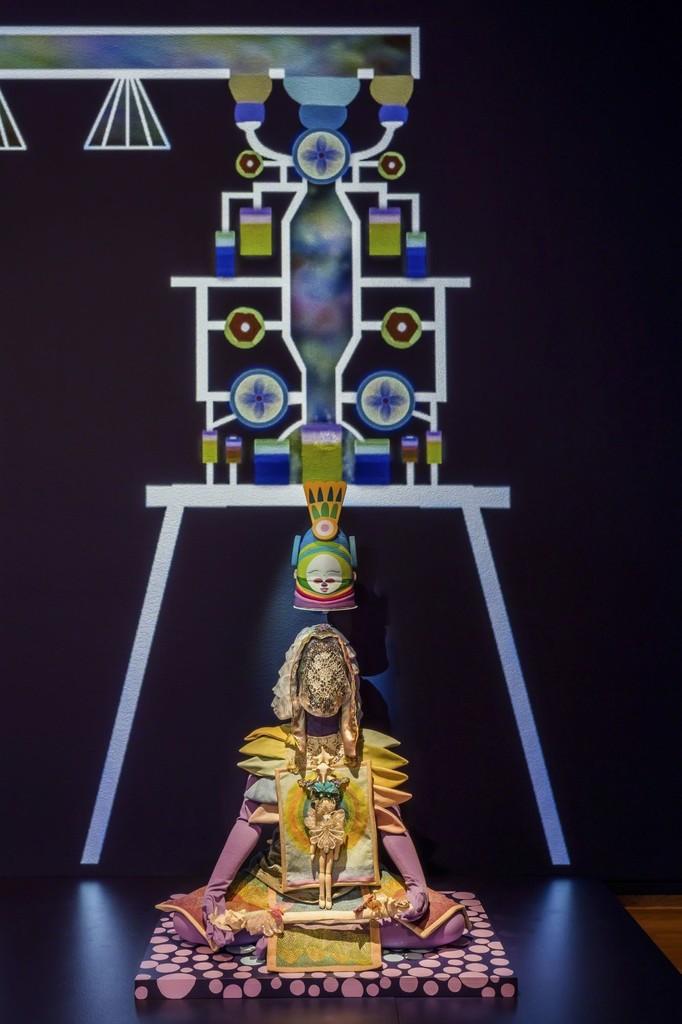Installation view of ChimaTEK: Virtual Chimeric Space (detail)