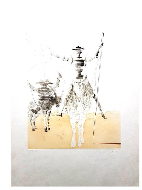 "Salvador Dalí, 'Original Etching rare ""Don Quixote et Sancho"" by Salvador Dali', 1980, Galerie Philia"