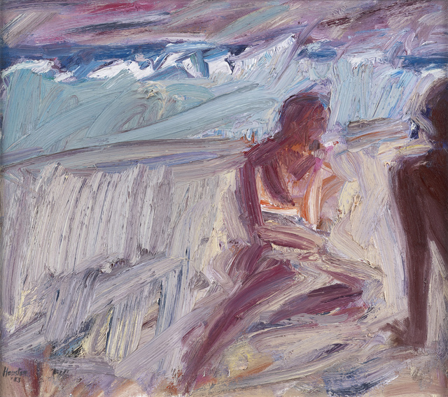 , 'Bathers and Breaking Waves,' 1983, The Scottish Gallery