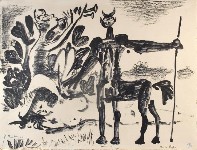 , 'Centaure et bacchante avec un faune, 2 Febuary 1947,' 1947, Opera Gallery