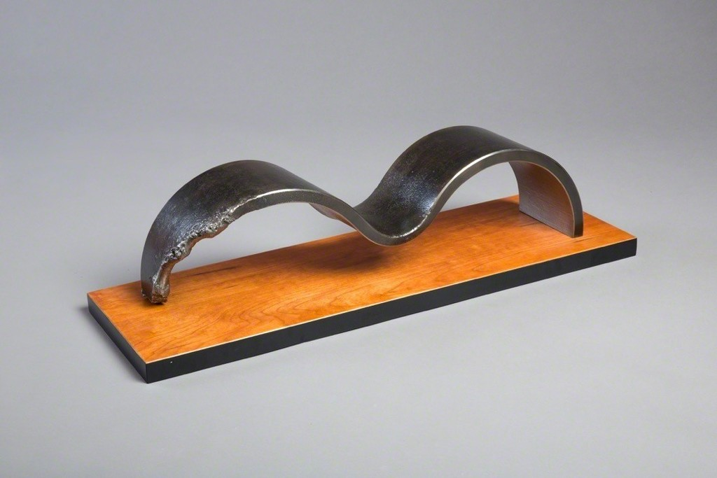 James DeMartis, steel and wood, 30 x 6 x 8, $6500