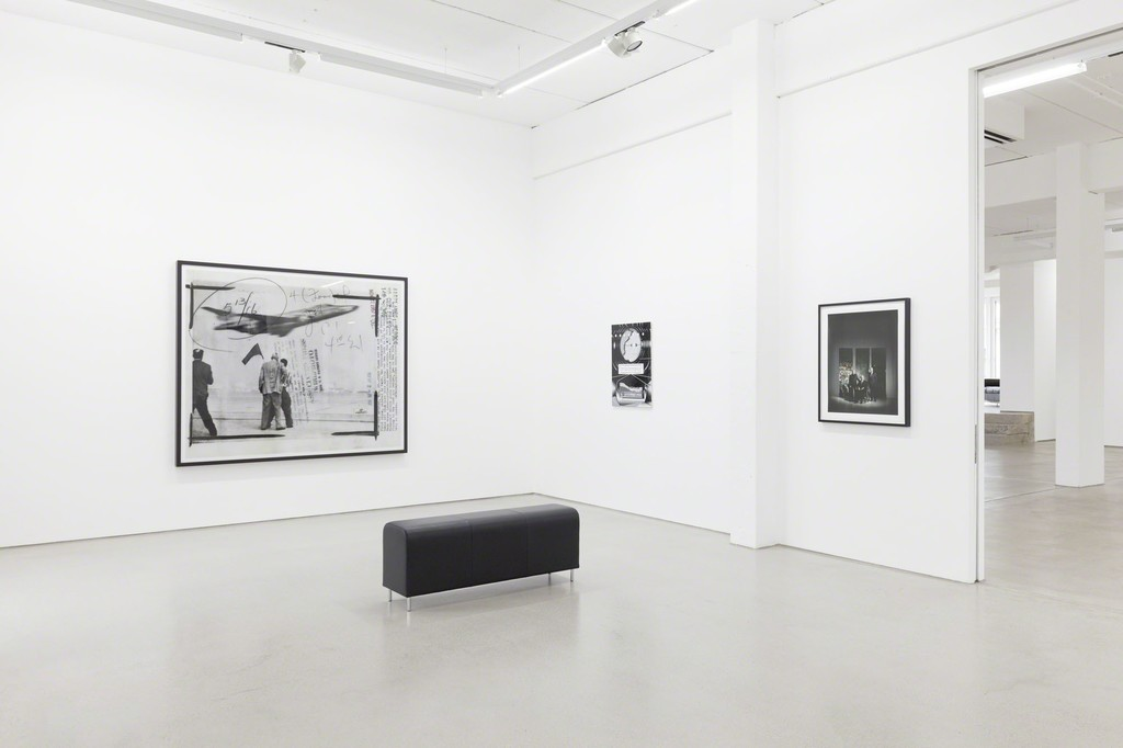 "from left to right: Thomas Ruff ""press++20.33"" (2015), Benjamin Dittrich ""KEN17-SW"" (2016) & Andreas Mühe ""Mühe für Diekmann"" (2009), installation view of the exhibition NEW ACQUISITIONS – Hildebrand Collection, 1 February – 7 May 2017, G2 Kunsthalle Leipzig photo: Dotgain.info © the artists & G2 Kunsthalle Leipzig / VG Bild-Kunst, Bonn 2017"