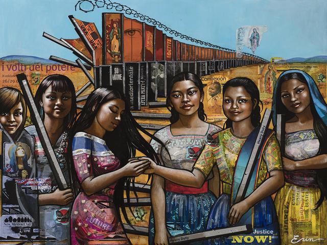 Erin Currier, 'American Women (Dismantling the Border) VI (After Raphael)', 2019, Blue Rain Gallery