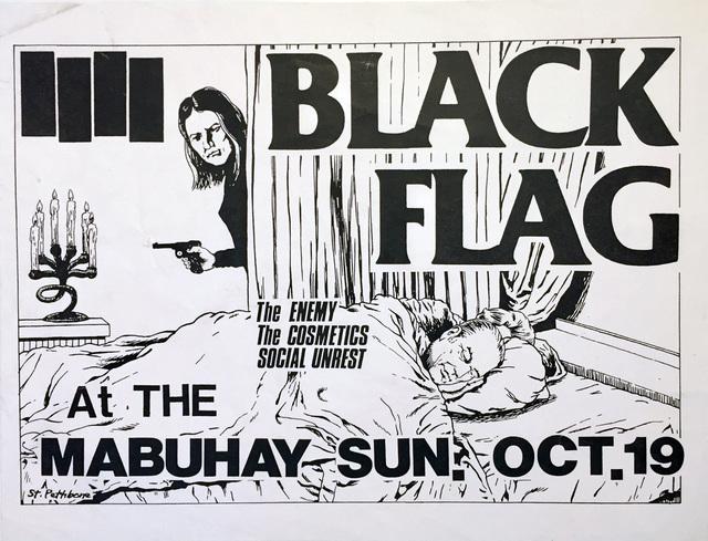 Raymond Pettibon, 'Raymond Pettibon illustrated Black Flag punk flyer (early Raymond Pettibon)', 1980, Lot 180