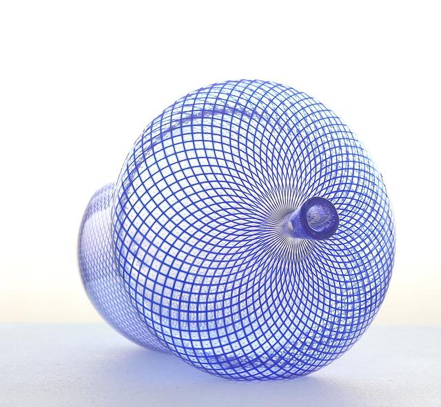 , 'Blue Reticello Acorn,' 2018, Messums