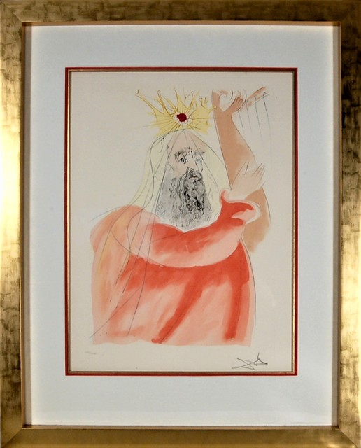 """Salvador Dalí, '""""King David"""" from the suite """"Our Historical Heritage""""', 1975, Joseph Grossman Fine Art Gallery"""