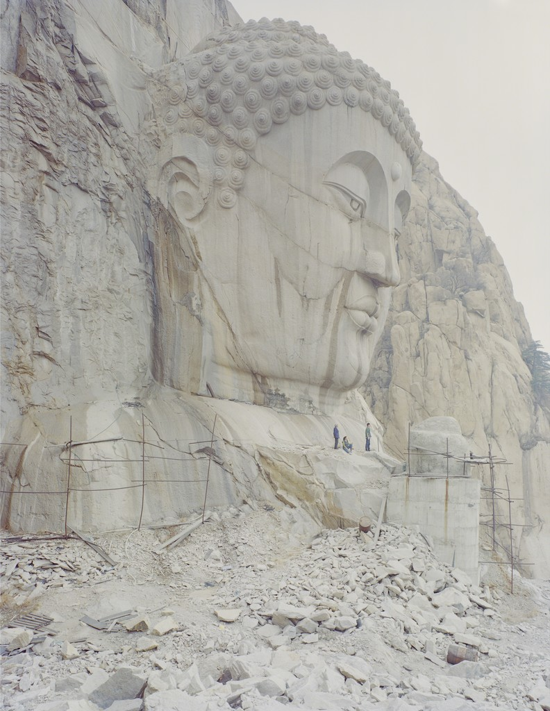 A Buddha Head in the Mountain