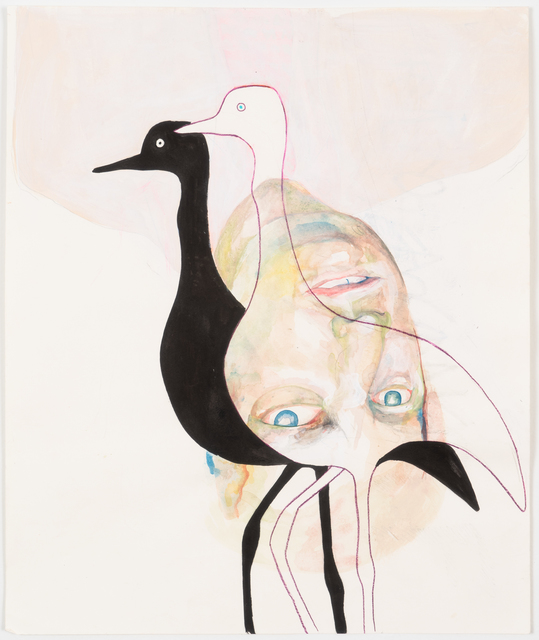 , 'Egret's Shadow,' 2018, James Fuentes