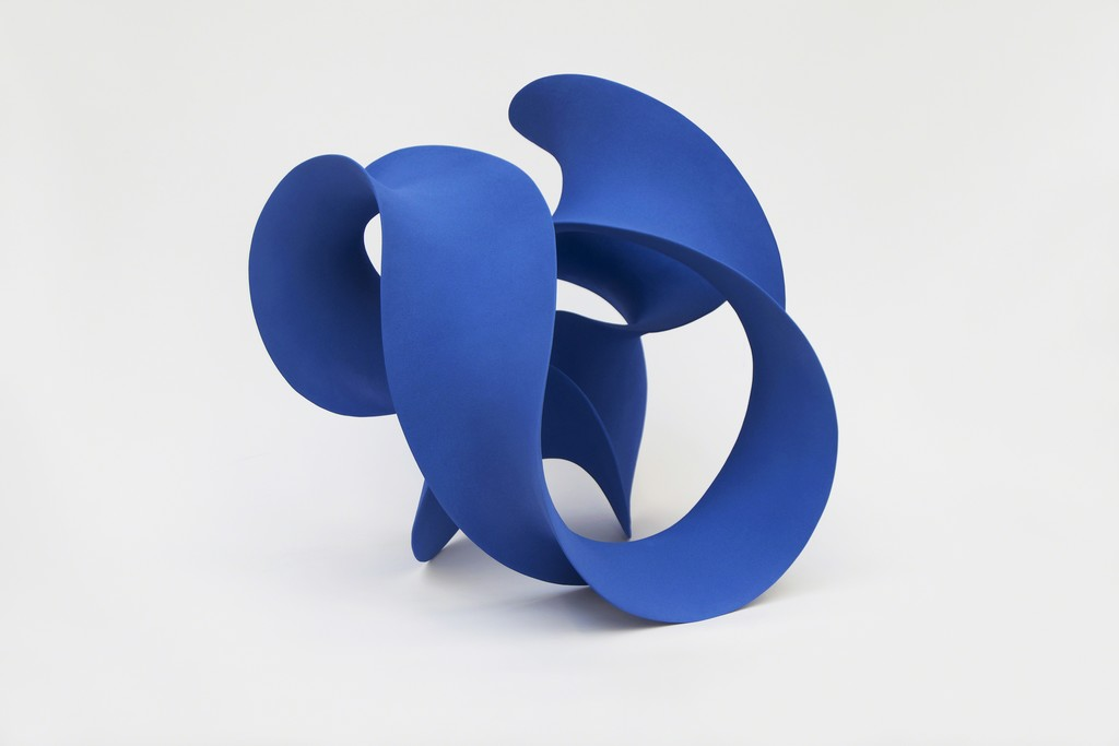 "Merete Rasmussen, ""Blue Twisted Loop"", Ceramic"