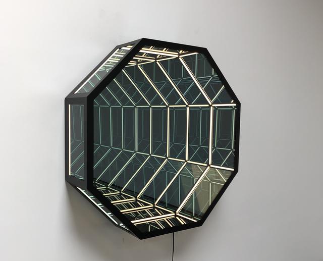 Anthony James, 'Wall Portal ', 2019, Sculpture, Steel, glass, LED lights, Unit London