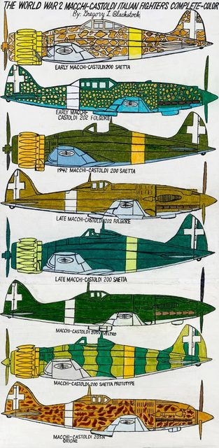 , 'THE WORLD WAR 2 MACCHI-CASTOLDI ITALIAN FIGHTERS COMPLETE - COLOR,' 2015, Greg Kucera Gallery