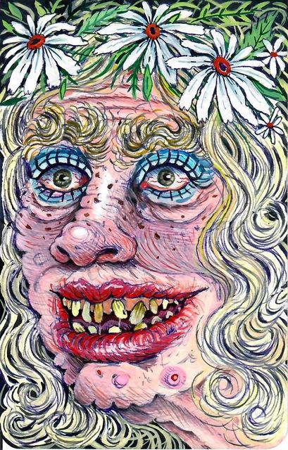 , 'Happy Hippy Woman with Flower Crown,' 2017, Asya Geisberg Gallery