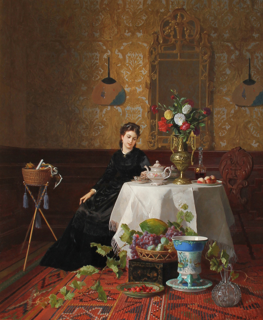 David Emile Joseph de Noter, 'Taking Tea', 1838-1892, Mark Murray Fine Paintings