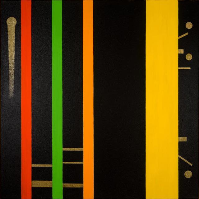 Osvaldo Mariscotti, 'Untitled Black 15', 2015, Painting, Oil and gold enamel on canvas, Upsilon Gallery
