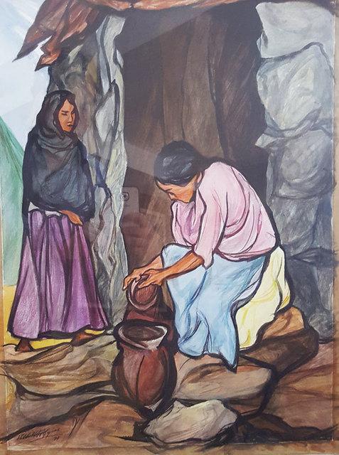 """, '""""Dos campesinas"""",' 1977, GALERÍAS A. CRISTOBAL"""