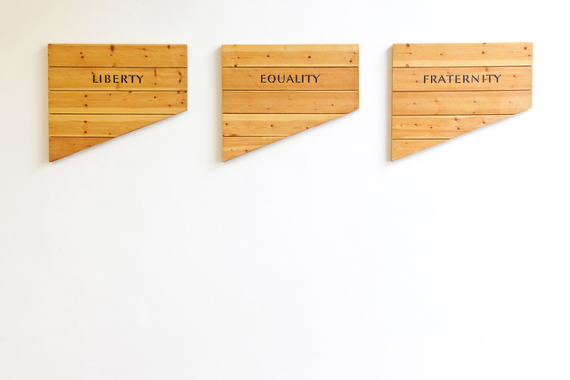 , 'Liberty Equality Fraternity,' 1990, Galerie Hubert Winter